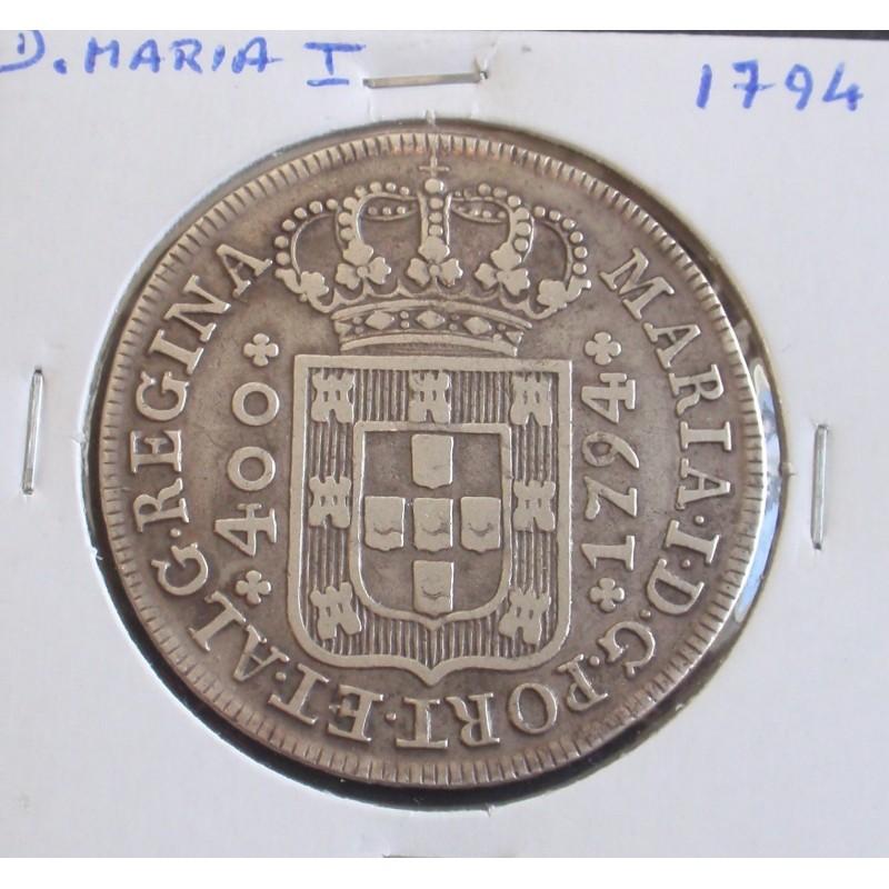 D. Maria I - Cruzado - 1794 - A. G. 17.04 - Prata