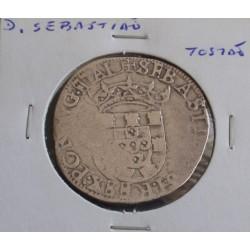 D. Sebastião - Tostão - N/D ( 1557-1578 ) - A. G. 53.01 - Prata