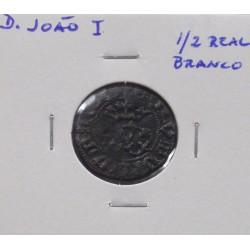 D. João I - 1/2 Real Branco - N/D (1385-1433 ) - A. G. 38.02