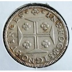 D. Pedro II - Cruzado - 1706 - A, G. 79.07 - Prata