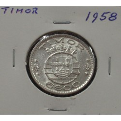 Timor - 6 Escudos - 1958 - Prata