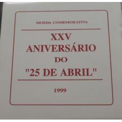 Portugal - 1999 - 25 Anos do 25 de Abril - Proof / Prata