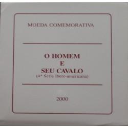 Portugal - 2000 - O Homem E Seu Cavalo - Proof / Prata