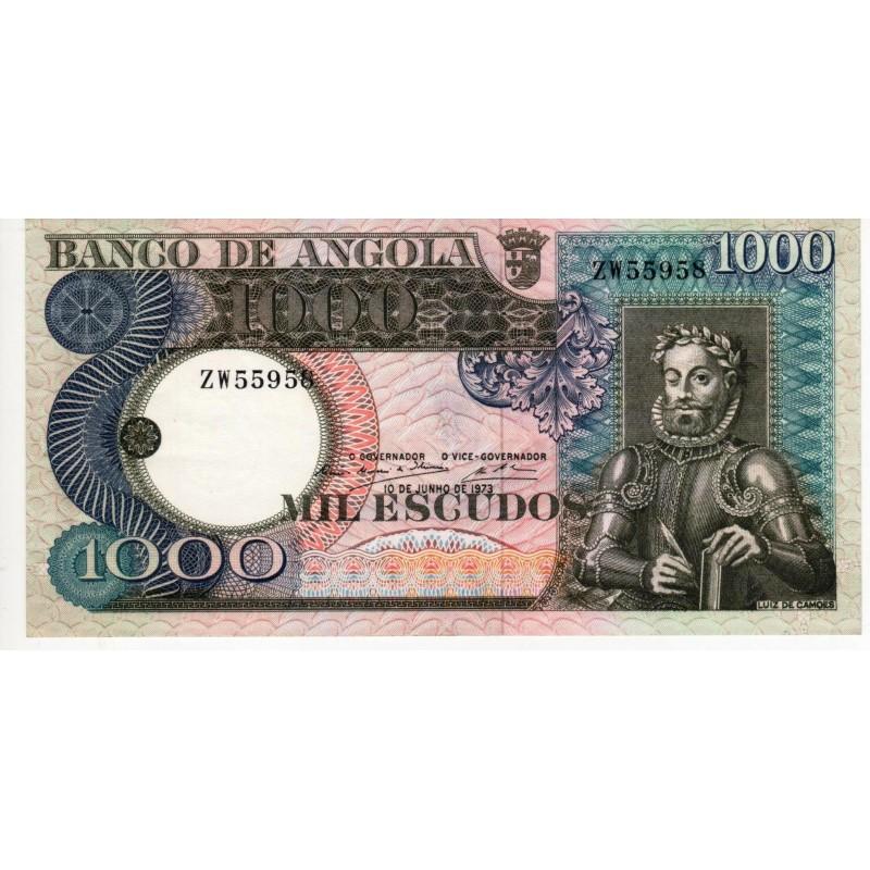 Angola - Nota - 100 Escudos - 10/06/1973 - Luís de Camões