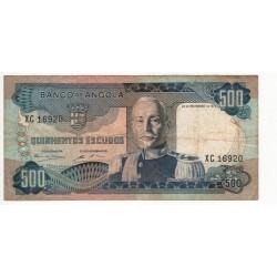 Angola - Nota - 500 Escudos - 24/11/1972 - Marechal Carmona