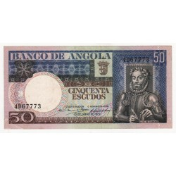 Angola - 50 Escudos - 10/6/1973 - Luis de Camões
