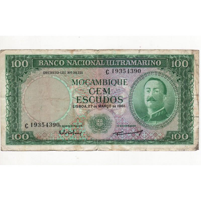 Moçambique - 100 Escudos - 27/2/1961 - Aires de Ornelas