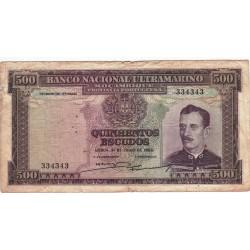 Moçambique - 500 Escudos - 31/7/1953 - Caldas Xavier