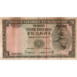 Timor - 20 Escudos - 24/10/1967 - Régulo Aleixo