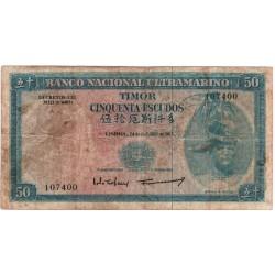 Timor - 50 Escudos - 24/10/1967 - Régulo Aleixo