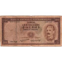 Timor - 100 Escudos - 2/1/1959 - Celestino da Silva
