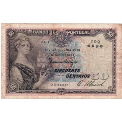Portugal - 50 Centavos - 5/7/1918 - Républica