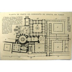 Planta do Convento de Cristo em Tomar