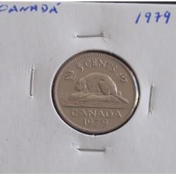 Canadá - 5 Cents - 1979