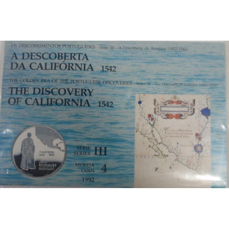 Portugal - III Série dos Descobrimentos-Califórnia-BNC / Prata
