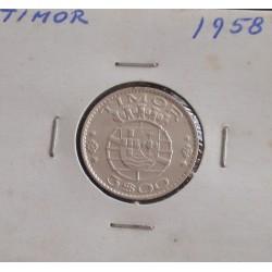 Timor - 3 Escudos - 1958 - Prata