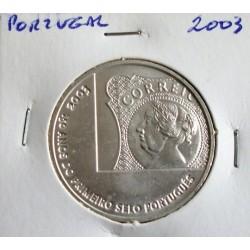 Portugal - 5 Euro - 2003 -150 Anos do 1º Selo Português
