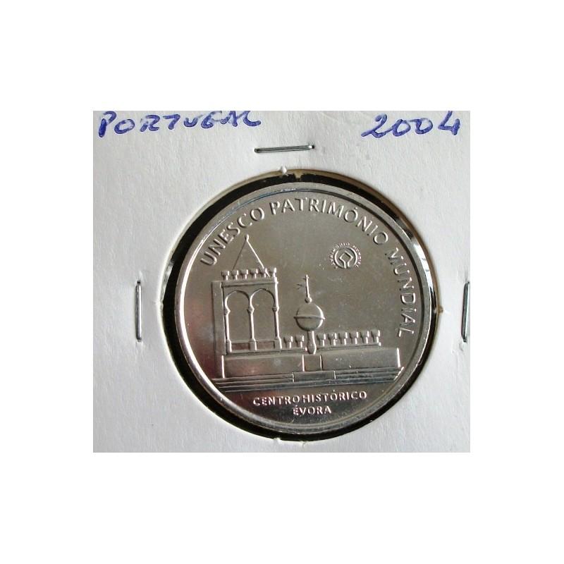 Portugal - 5 Euro - 2004 - Centro Histórico De Évora - Prata