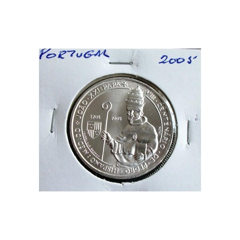 Portugal - 5 Euro - 2005 - Pedro Hispano - Papa João XXI - Prata