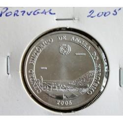 Portugal - 5 Euro - 2005 - Centro Histórico De Angra De Heroísmo - Prata