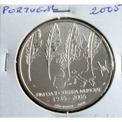 Portugal - 8 Euro - 2005 - Fim Da II Guerra Mundial - Prata