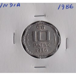 India - 10 Paise - 1986