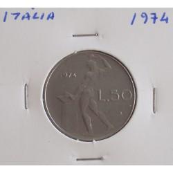 Itália - 50 Lire - 1974
