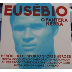 Portugal - 7,50 Euro - 2016 - Eusébio - Proof - Prata
