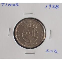 Timor - 60 Centavos - 1958 - Unc