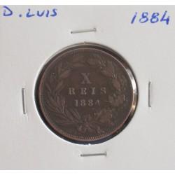 D. Luis - X Réis - 1884