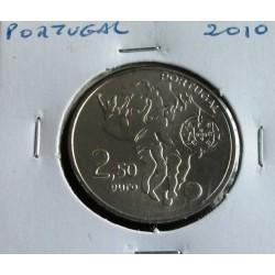Portugal - 2,50 Euro - 2010 - Mundial De Futebol - África Do Sul