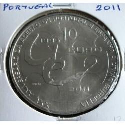 Portugal - 10 Euro - 2011 - XXV Anivº  Adesão à U. E.
