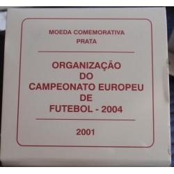 Portugal - 2001 - Futebol 2004 - Proof / Prata