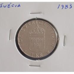 Suécia - 1 Krona - 1983