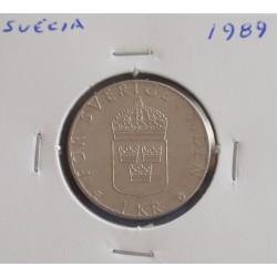 Suécia - 1 Krona - 1989