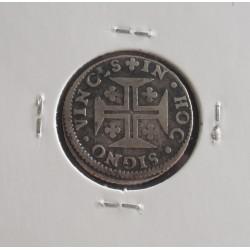 D. Pedro II - 6 Vinténs - N/D (1683-1706) Vincls - Prata