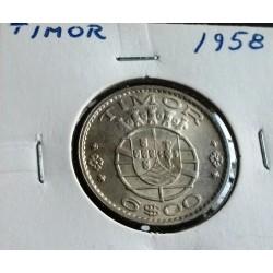 Timor - 6 Escudos - 1958 - Prata - Sob