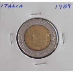 Itália - 500 Lire - 1989