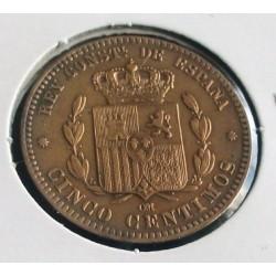 Espanha -Alfonso XII -  5 Centimos - 1879
