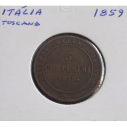 Itália / Toscana - 5 Centesimi - 1859