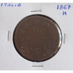 Itália - 10 Centesimi - 1867 H