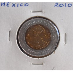 México - 5 Pesos - 2010 - Venustiano Carranza