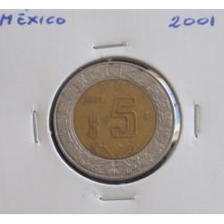 México - 5 Pesos - 2001