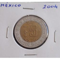 México - 5 Pesos - 2004