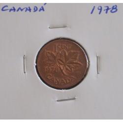 Canadá - 1 Cent - 1978