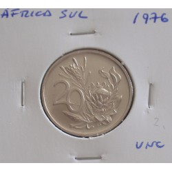 África do Sul - 20 Cents - 1976 - Unc