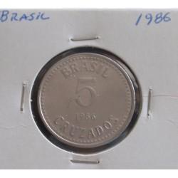 Brasil - 5 Cruzados - 1986