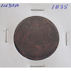 India - 1/2 Anna - 1835