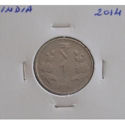 India - 1 Rupee - 2014
