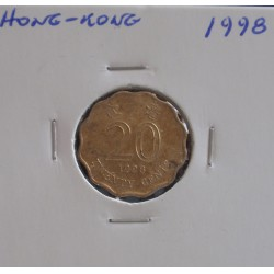 Hong - Kong - 20 Cents - 1998
